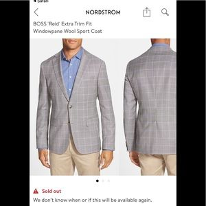 Hugo Boss Suits & Blazers - NWT Hugo Boss Reid Windowpane Trim Fit Blazer